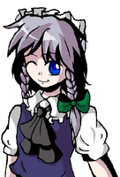 Because MS Paint is Magic - Sakuya Izayoi by Water-horse
