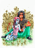 Lily and Garo for Hant by Eyeless1703