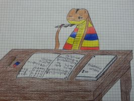 Uabset, studying for the exams by Smashfanful