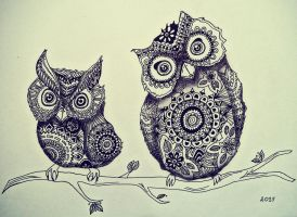 Owls by silent741