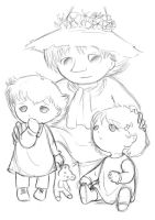 Snufkin and his twins by Hellena-Maezono