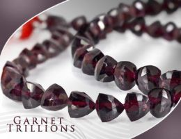 Garnet Trillions by BeadsofCambay