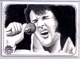 ELVIS PSC ACEO by chrisfurguson