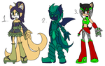 .:Adoptable set 7 -Closed-:. by Uncanny-Illustrator