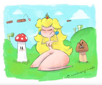 Perky Plump Princess Peach by splashemoji