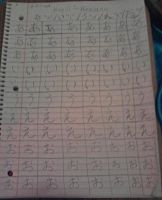 My first page and time on Hiragana/kanji by KaylaChan92