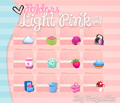 Folders Light Pink by Payasiita