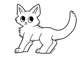 Free Cat Lineart by ForestGlade
