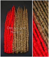 RED/BLONDE DREADS by dreadlockmadness