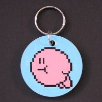 Kirby - Pixel Painted Keyring by arcade-art