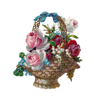 Penny Plain Victorian Scraps Flower Basket Ros by lorawise