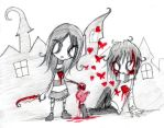 a ripped heart in old town XD by Jump-Button