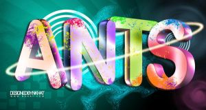 3d TEXT ANTS by nkhat1