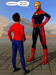 Captain Marvel meets Billy Batson by schlumpf137