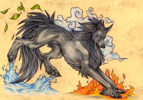 Elemental Wolf by Quinneys