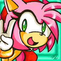 ~I'm Amy, Amy rose~ by SilentRain12