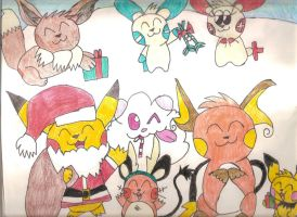 Pokemon Christmas 2014 by SkunkyRainbow270