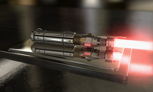 Red Lightsaber 2 by Akos88