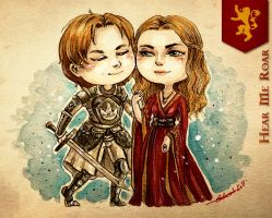 Chibi Lannisters - Hear Us Roar ! by Calicot-ZC