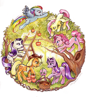 Apple Orchard by Linnpuzzle