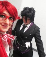 When Grell Spikes Bassy's Drink by FlameWhispers