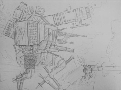 Giant Killer Robot 02 by woundedskies