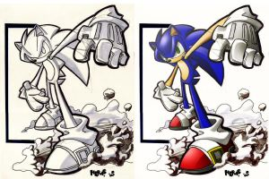 Speedy Sonic Markers Study by herms85