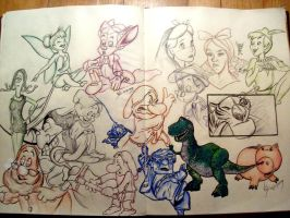 Sketchpages finished by boy140495