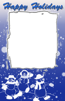 Snowman Christmas frame by daftopia