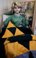 A Link Approved Pillow and Blanket by studioofmm