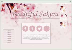 Beautiful Sakura | advanced custom graphic by BluAjisai