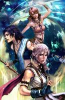 Girls of FFXIII by longai