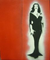 Vampira on canvas by mubbamubba