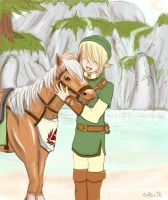 Link and Epona by CultPeThi