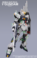RX-93 Nu Gundam (Poster Version 02) by gloryofgundam