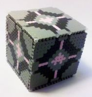Companion Cube Box 3 by i-am-a-decoy