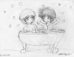 Bathtime at Bag End by syd-vicious