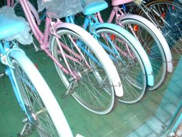 Candy Colored Bicycles by kathycool
