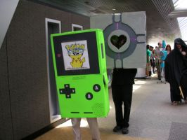 gameboy and companion cube by DizzyHellfire