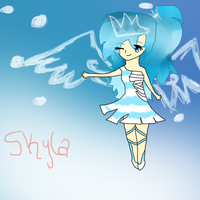 Chibi Human Skyla The queen of the icedropworld by EpicsauceShotaVamp