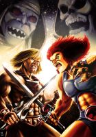 He-Man vs Lion-O by Robert-Shane