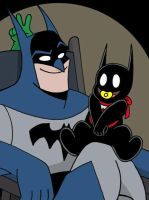 Batman and Son by The-BlackCat