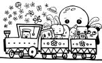 Happy monster train by tini123