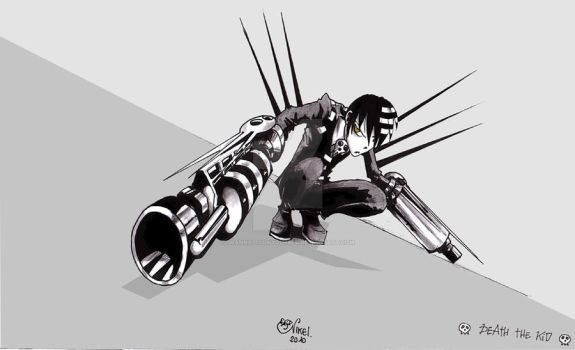 Death The Kid - Death Cannon by IwannaPissInYourBed