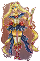 Steampunk Sailor Moon by naydeity