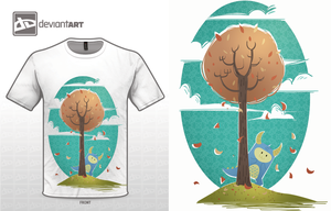 Cute monster contest t-shirt 2 by Diaff