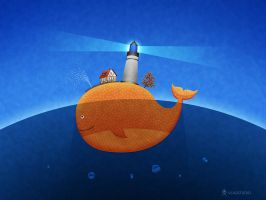 Whale by vladstudio