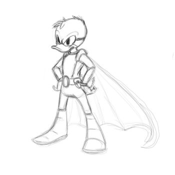 Duck Avenger doodle by Zychel