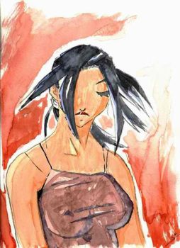 Ancient Stuff 15: Tatoo Girl Watercolor by tognin