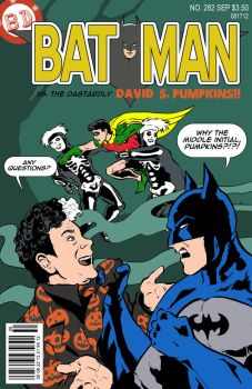 Batman vs. David S. Pumpkins by kinjamin